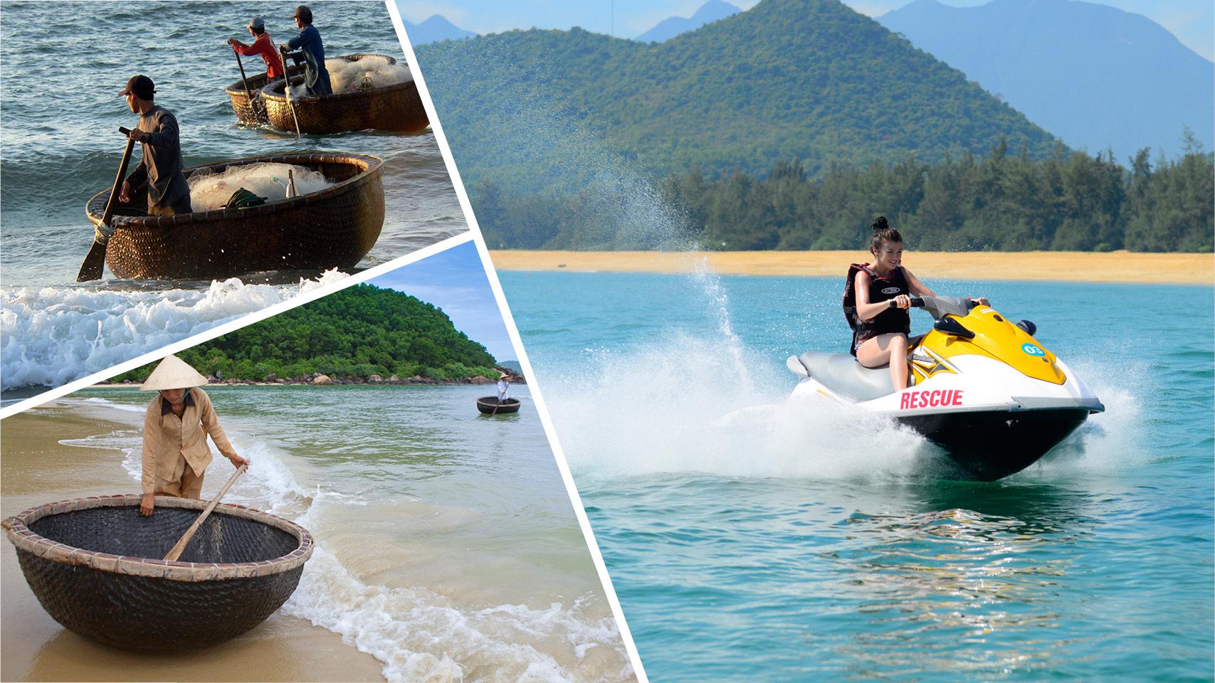 Vietnam Basket Boat-Jet Ski Safari