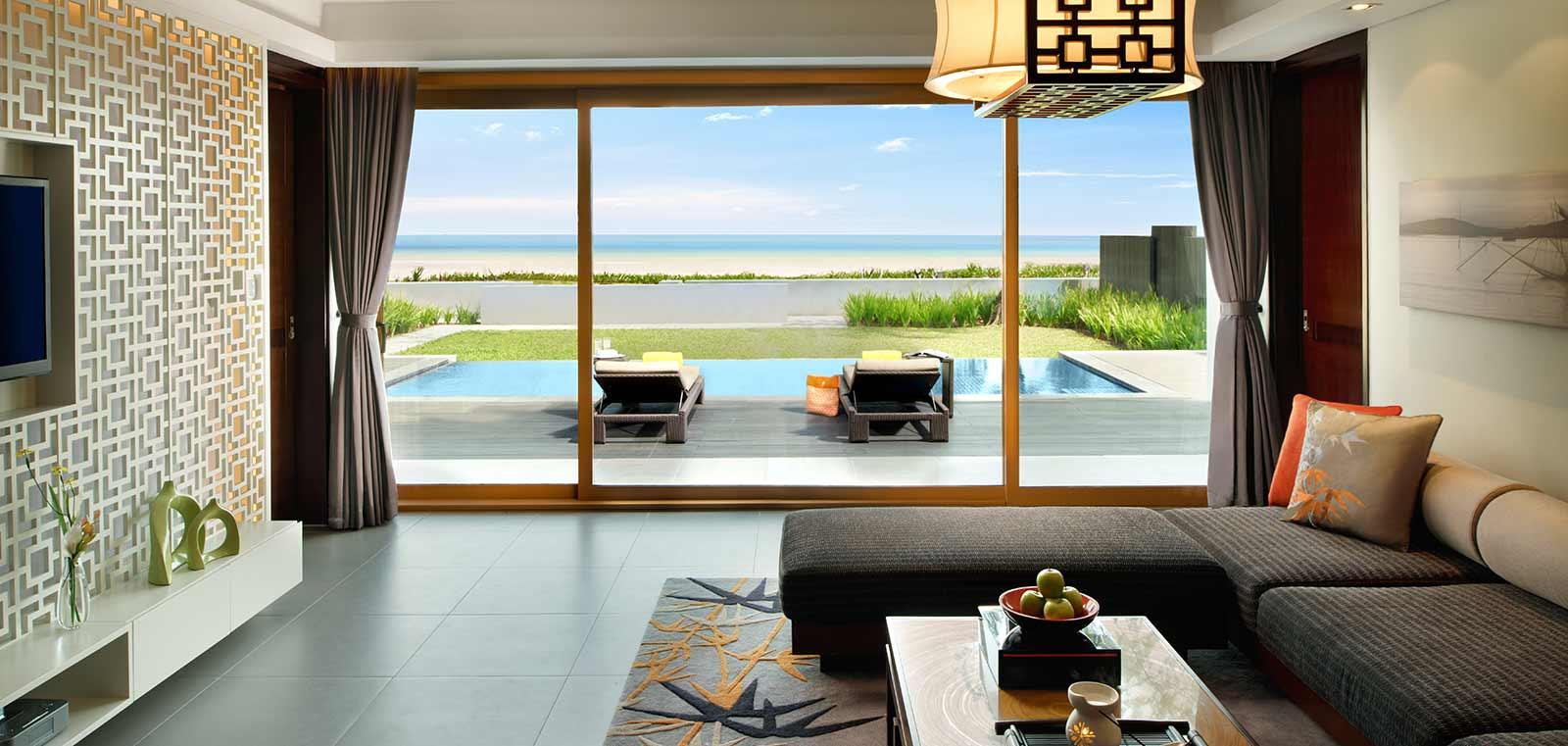 Courtyard   Beachfront Pool Suite Two Bedrooms, Angsana Lang Co resort, Hue, Vietnam banner