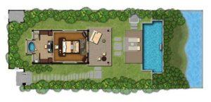 Sơ đồ mặt bằng biệt thự hồ bơi ẩn dật, khách sạn Banyan Tree Lang Co