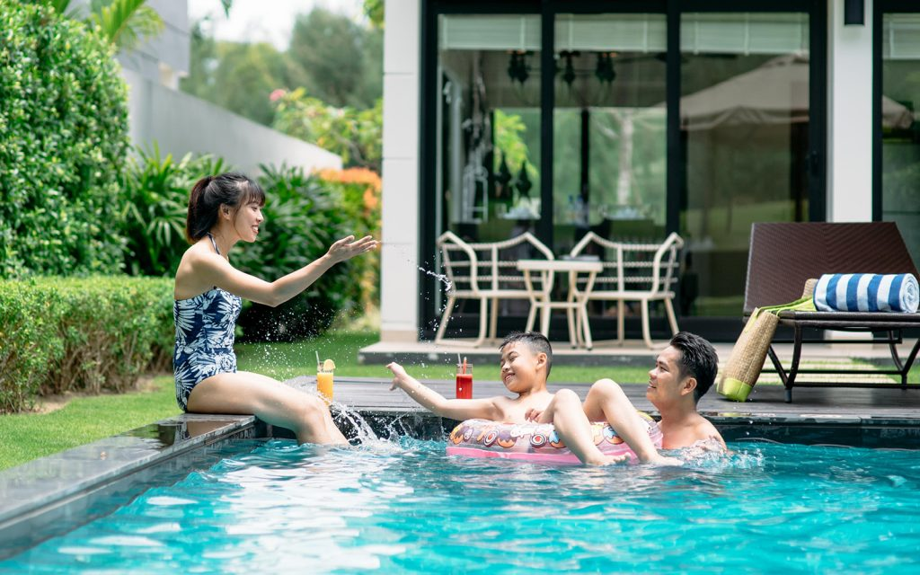 private garden and pool provides a relaxed atmosphere