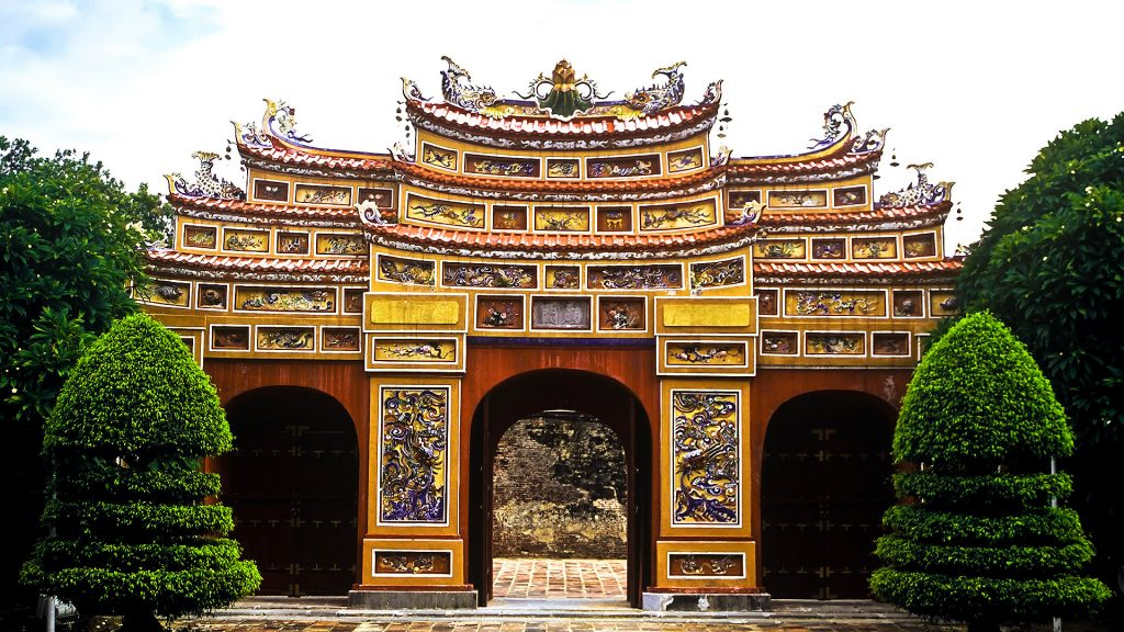 Artisans from the Nguyen Dynasty were skilled in creating beauty from a broken piece of ceramic or porcelain.