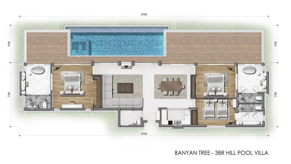 Floor Plan | Banyan Tree Hill Villa 3 Bedroom