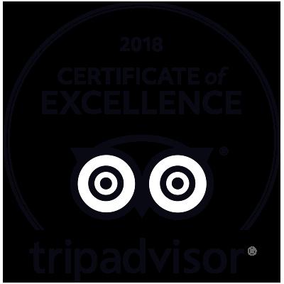 Logo 2018 Certificate of Excellence - Tripadvisor