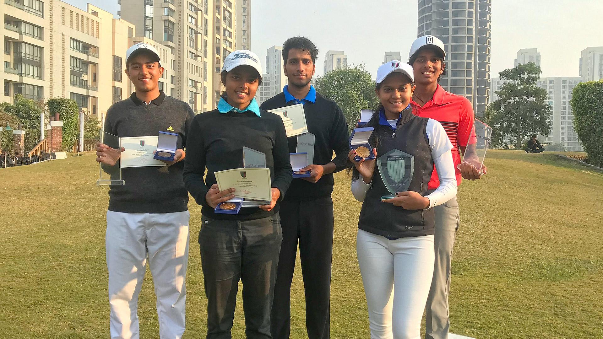 Faldo Series India Championship age group winners