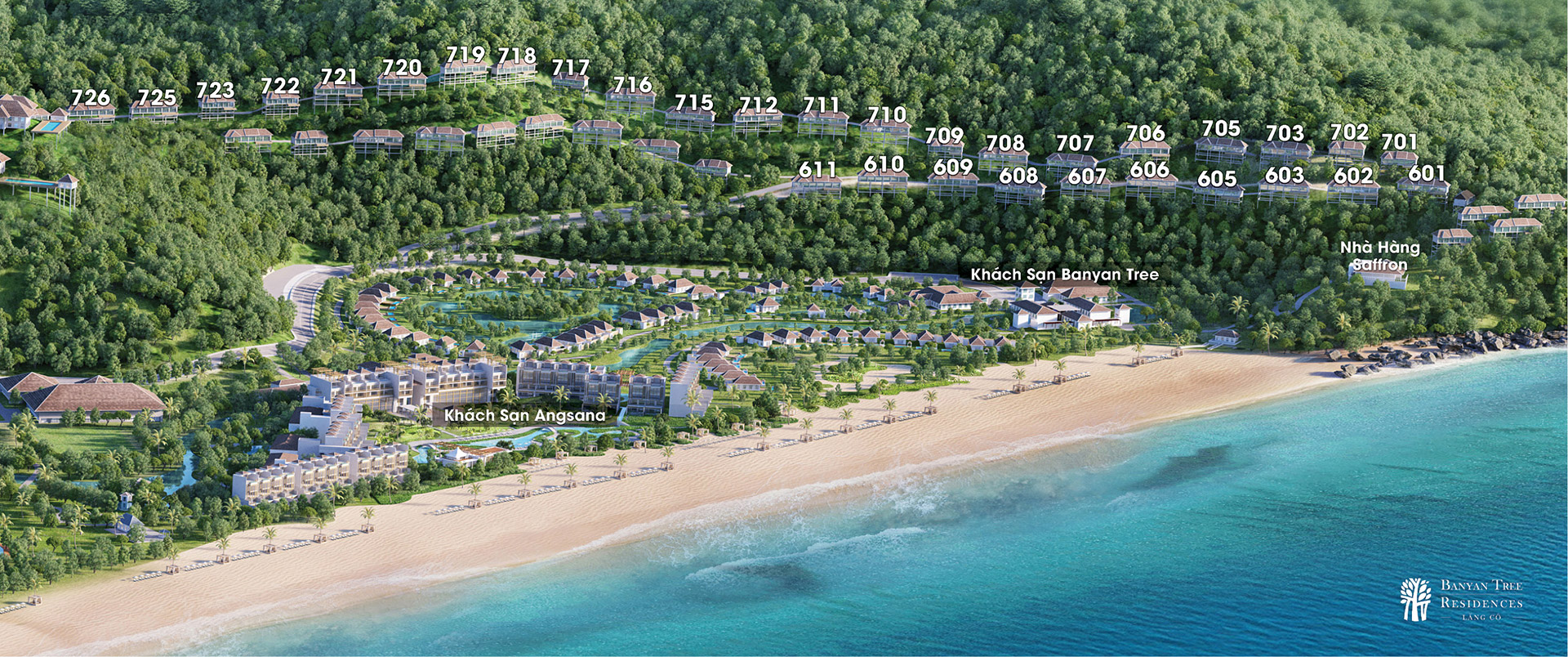 Biệt thự biển Banyan Tree Residences Lang Co